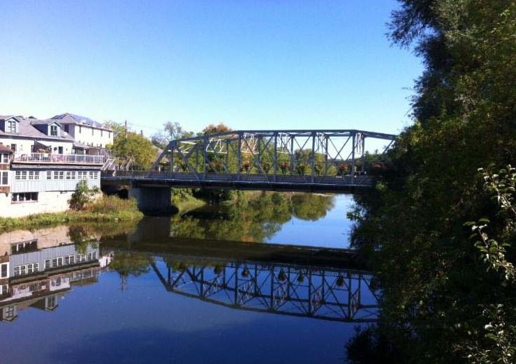 View of the Badley Bridge in Elora