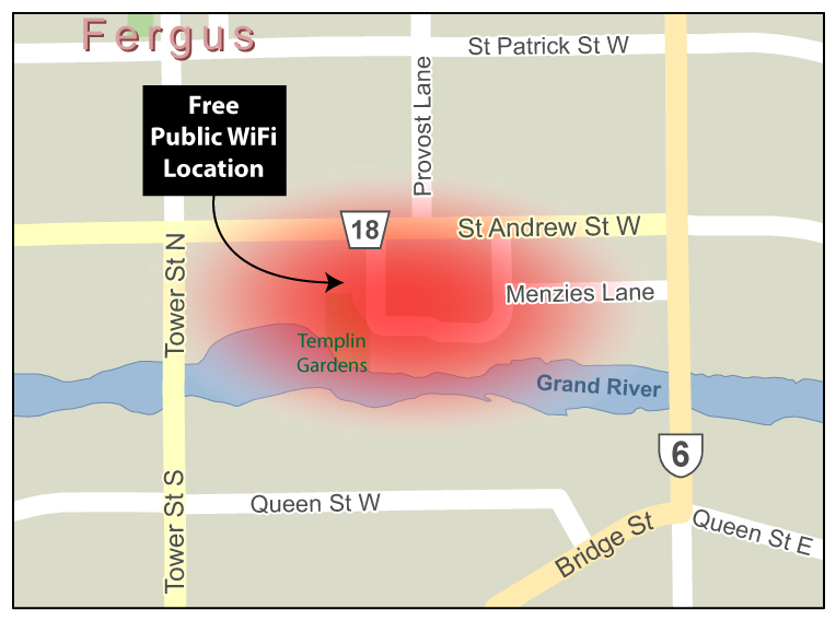 Fergus WiFi map
