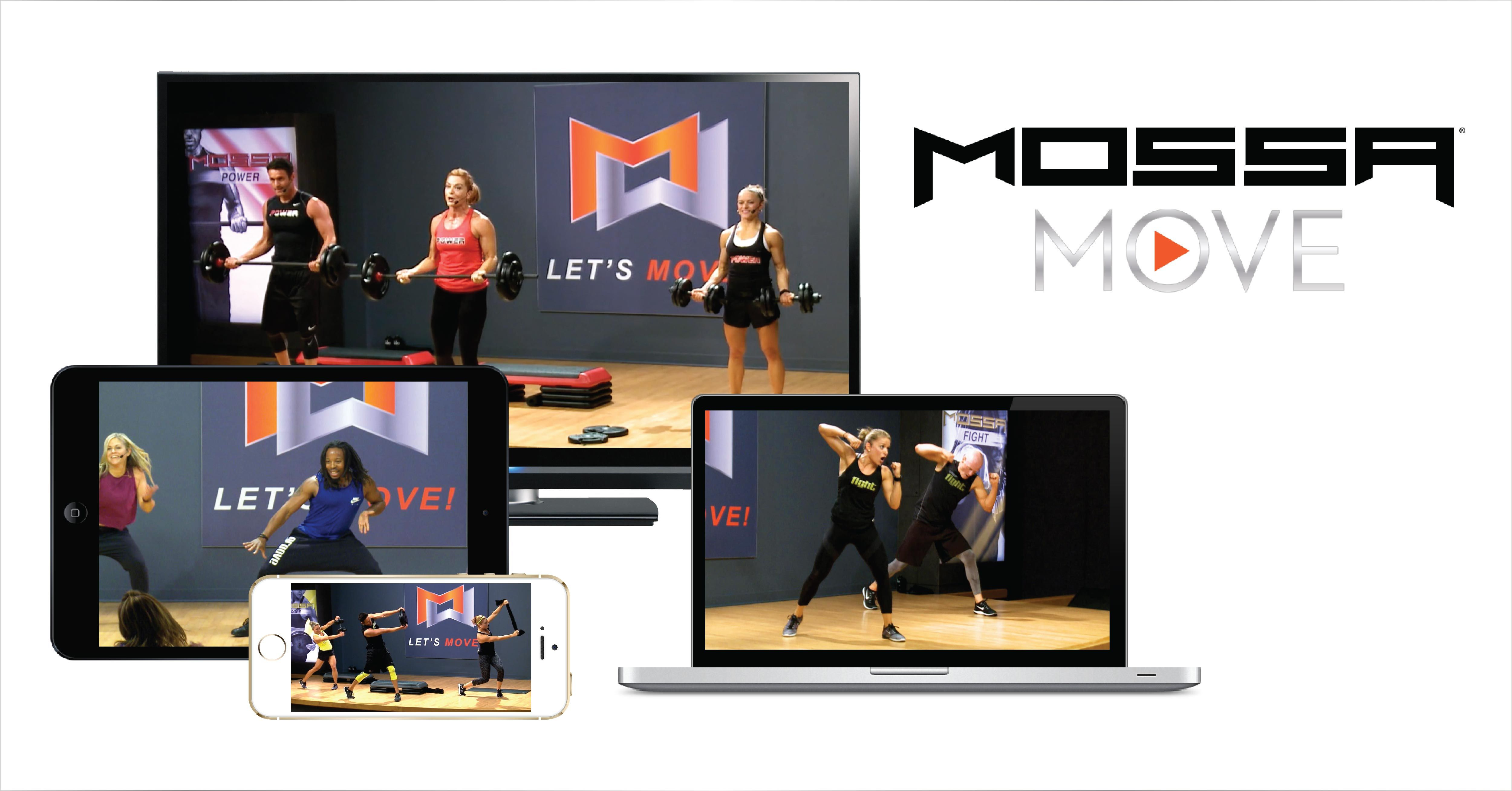 Mossa Move on demand workouts on your device